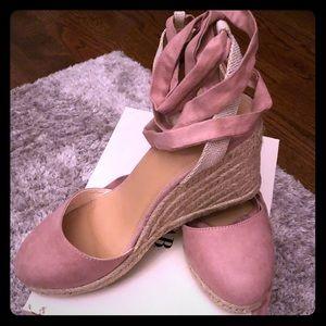 Pink, espadrilles size 8.5